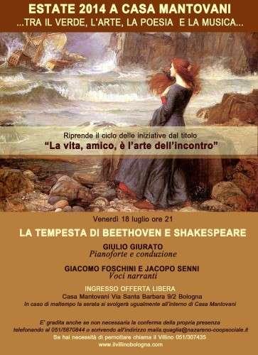 Estate 2014 a Casa Mantovani - La tempesta di Beethoven e Shakespeare