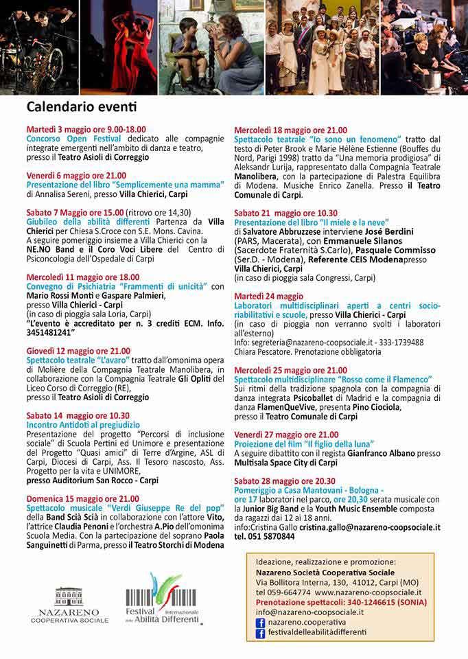 Programma completo 18° Festival dell Abilità Differenti